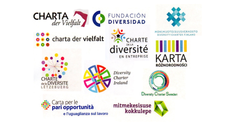 Logos chartes diversite payes europeens
