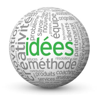 Globe - Nuage de Tags IDEES (idées solutions imagination équip